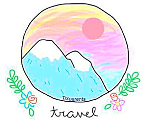 mountains, travel, and art image