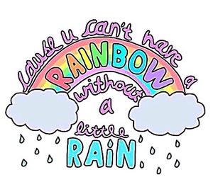 quotes, rain, and rainbow image