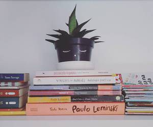 books, decoration, and plants image