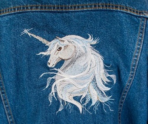 unicorn, jeans, and white image