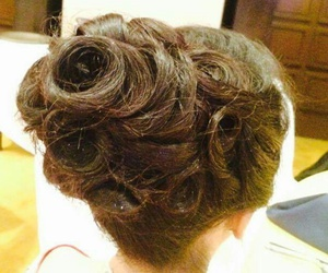 classic, hairstyle, and Prom image