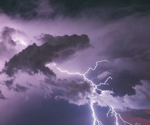 lightning, purple, and nature image