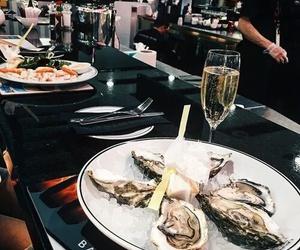 caviar, sea food, and champagne image