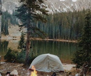 nature, camping, and adventure image
