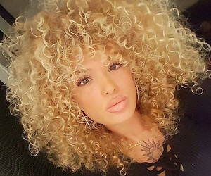 beautiful, curly hair killers, and blonde image