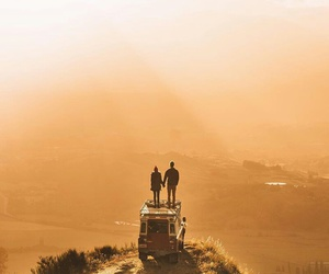 lovers, travel, and love image