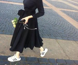 black and adidas image