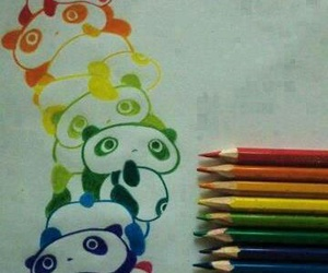 panda, drawing, and art image