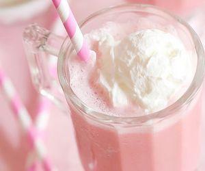 pink, drink, and milkshake image
