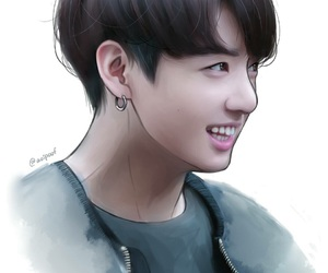 jungkook, fanart, and kpop image