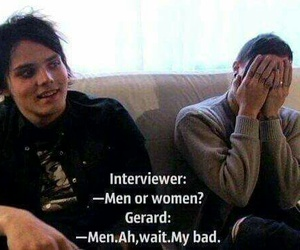 gerard way, frank iero, and my chemical romance image