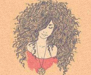 girl, curly, and beautiful image