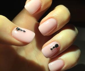 diamond, manicure, and pink image