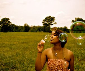 beautiful, bubbles, and summer image