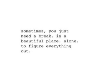 quote, beautiful, and alone image