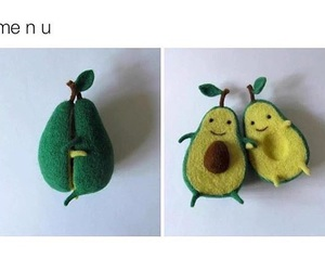 cute and avocado image