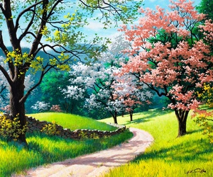 nature, tree, and spring image
