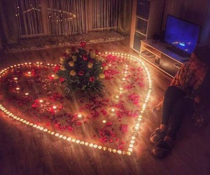love, boyfriend, and candle image