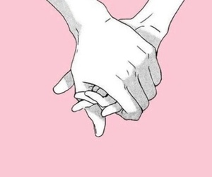 pink, hands, and couple image
