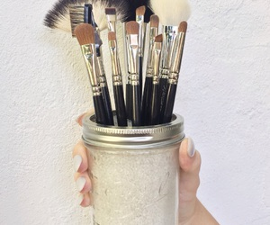 diy, Brushes, and eyebrows image