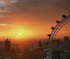london, sunset, and Big Ben image