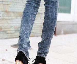 heels, shoes, and jeans image