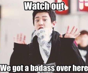 chanyeol, badass, and exo image