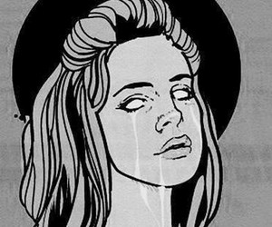 lana del rey, born to die, and black and white image