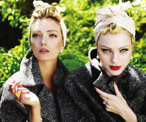 model, Jessica Stam, and Lily Donaldson image