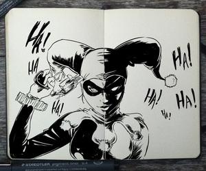harley quinn, art, and dc comics image