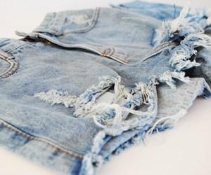 shorts, denim, and denim shorts image