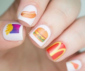 nails, food, and nail art image