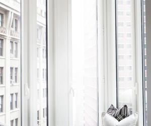 white, interior, and window image
