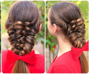 hairstyle, hairstyletutorial, and puffbraid image