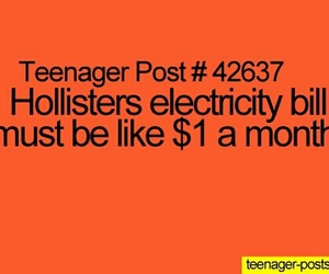 hollister, teenager post, and funny image