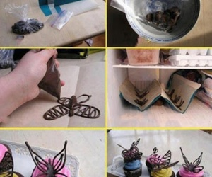 butterfly, cake, and cooking image