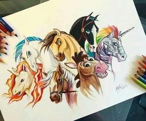 horse, art, and mulan image