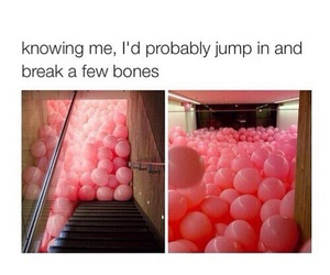 funny, balloons, and pink image