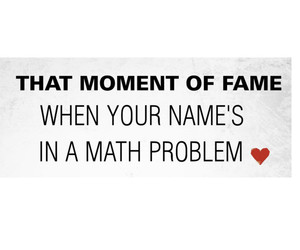 math, fame, and problem image