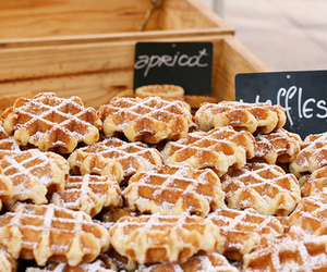 waffles, food, and yummy image
