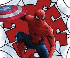 civil war, spider man, and ❤ image