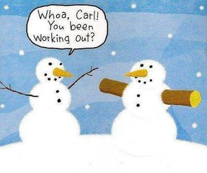 funny, snowman, and snow image