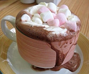 chcolate, coffe, and marshmallow image