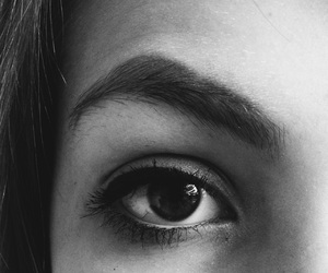 black and white, eyeliner, and eyeshadow image
