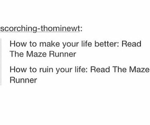 books, thomas, and maze runner image