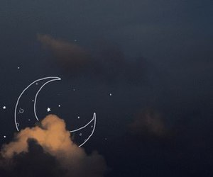 moon, night, and sky image