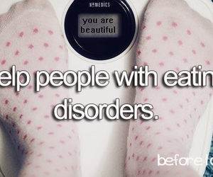 before i die and eating disorders image
