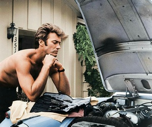 clint eastwood and vintage image