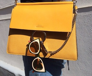 fashion, bag, and yellow image