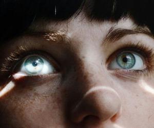 blue eyes, eyes, and face image